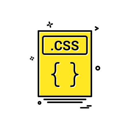 file files css icon vector design Vector Illustration