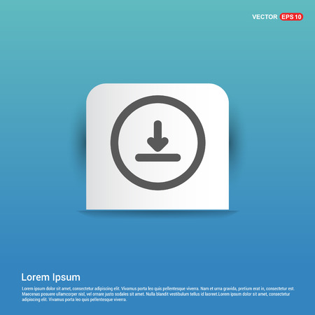 Download Icon - Blue Sticker button