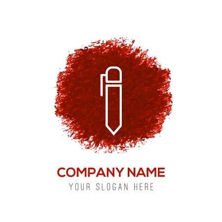 Writing pen icon - Red WaterColor Circle Splash Ilustração