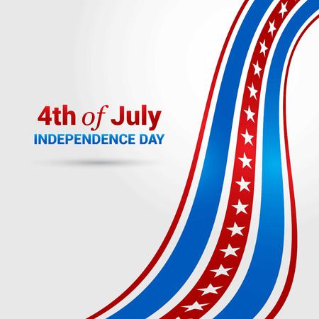 USA Indpendence day design vector Ilustração