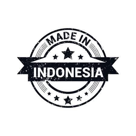Indonesia stamp design vector