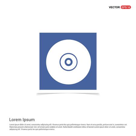 Cd disc icon - Blue photo Frame