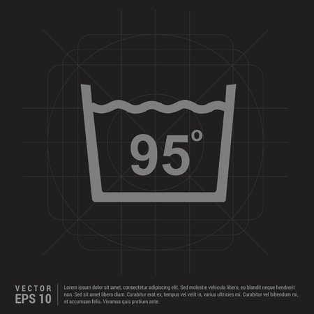 Laundry symbols icon - Black Creative Background - Free vector icon Illustration