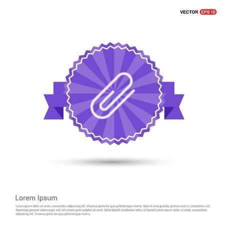 Attach paper clip icon - Purple Ribbon banner