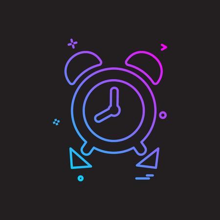 Time pass icon design vector Illusztráció