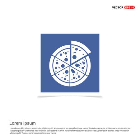 Classic pizza icon - Blue photo Frame