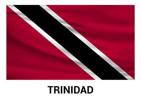 Trinidad flag design card vector