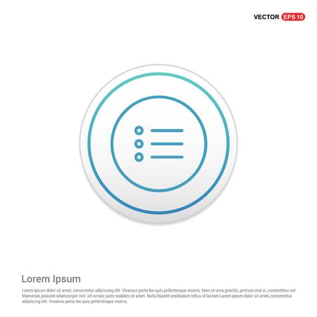menu icon - white circle button Vecteurs
