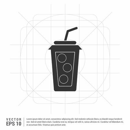 Cold drink icon Çizim