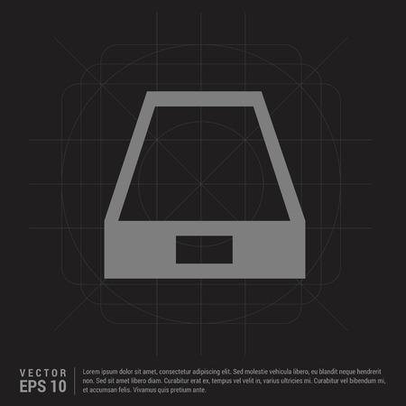 Hard disk drive icon - Black Creative Background - Free vector icon