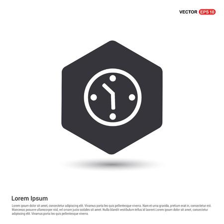 Clock Icon Hexa White Background icon template - Free vector icon