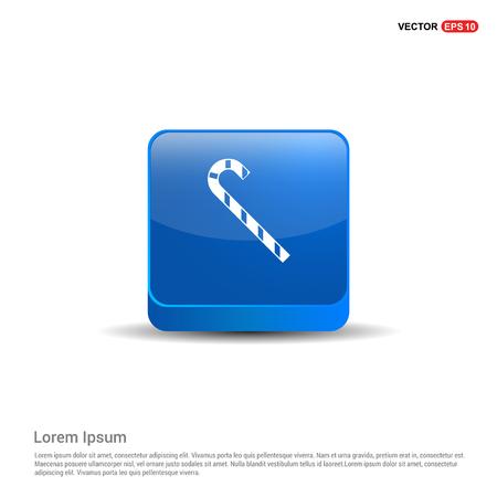 stick Icon - 3d Blue Button.