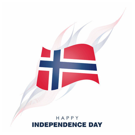 Norway Independence day design vector