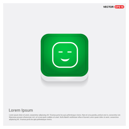 smiley icon, Face iconGreen Web Button - Free vector icon
