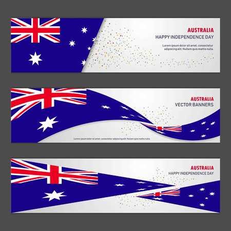 Australia independence day abstract background design banner and flyer, postcard, landscape, celebration vector illustration Illustration