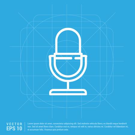 Microphone icon  イラスト・ベクター素材