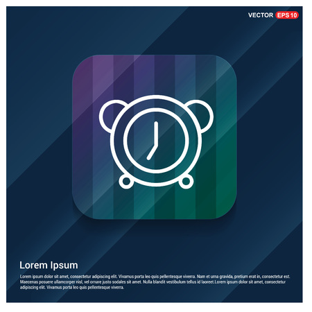Alarm clock icon Vettoriali