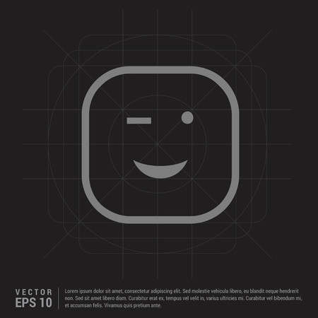 smiley icon, Face icon - Black Creative Background - Free vector icon