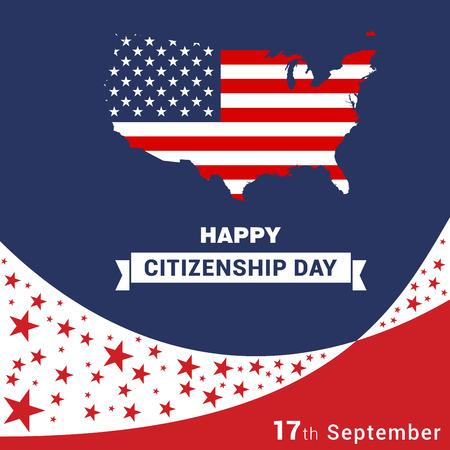 Happy Citizenship design vector Vektoros illusztráció