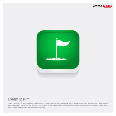 Golf Flag Icon Фото со стока - 111129636