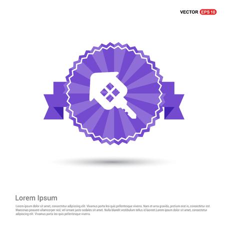 House Key Icon - Purple Ribbon banner