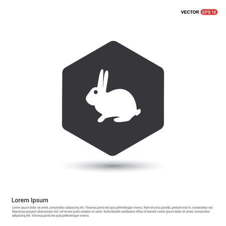rabbit Icon Ilustração Vetorial