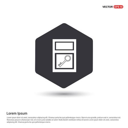 key icon Hexa White Background icon template - Free vector icon