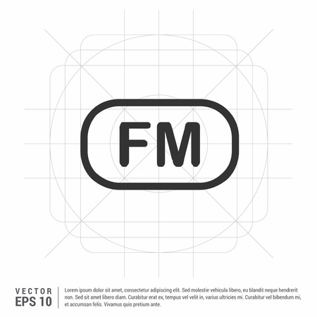 Fm radio frequency icon