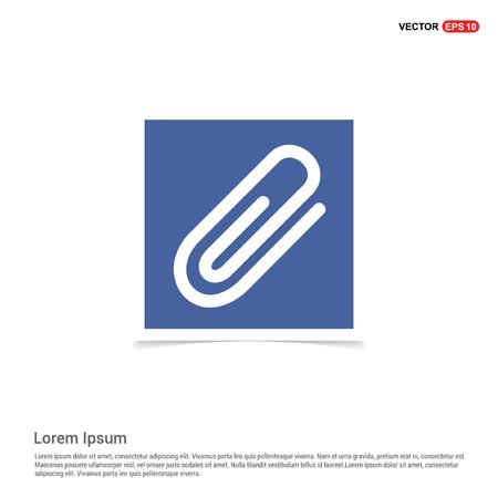 paper clip icon - Blue photo Frame