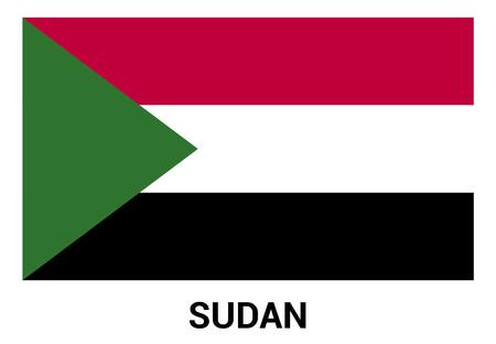 Sudan Flag design vector Illustration