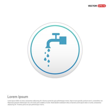 Water Tap Icon - white circle button