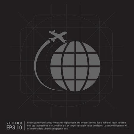 globe icon Ilustracja