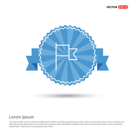 Flag mark icon Vektorové ilustrace