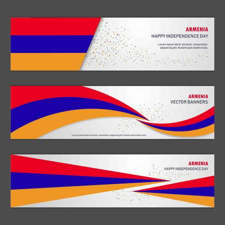 Armenia independence day abstract background design banner and flyer, postcard, landscape, celebration vector illustration Illustration
