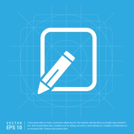 Edit, pencil icon Ilustração