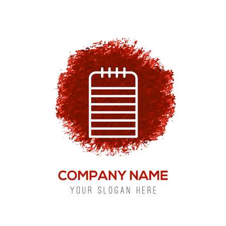 Note Icon - Red WaterColor Circle Splash