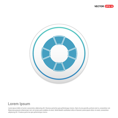 Life Buoy Icon - white circle button