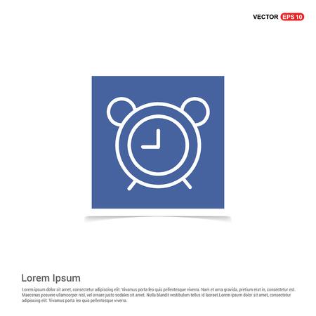 Alarm clock icon - Blue photo Frame Foto de archivo - 118290064