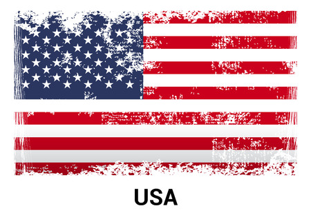 USA flag design vector Illustration