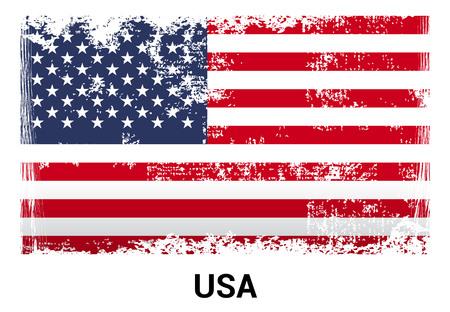 USA flag design vector Çizim