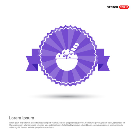 Ice Cream Icon - Purple Ribbon banner