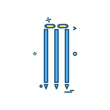 wicket cricket play icon vector design Ilustração