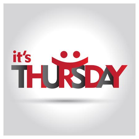 Its Thursday typography design vector Vector Illustratie