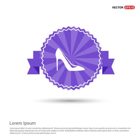 High-heels icon - Purple Ribbon banner