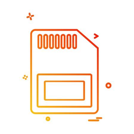 Sim card icon design vector Illustration