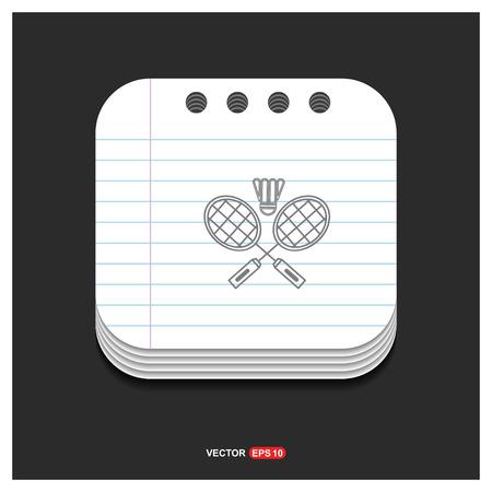 Racket Shuttlecock Icon - Free vector icon