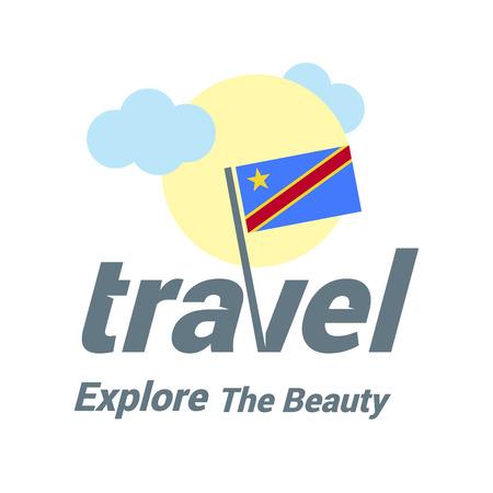Web travel logo Standard-Bild - 111143417