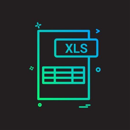 xls file format icon vector design Vector Illustration