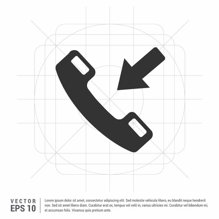 Phone receiver icon. Stock Vector - 118291219