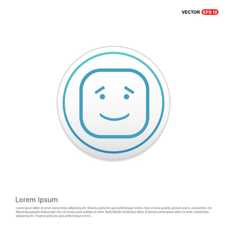 smiley icon, Face icon - white circle button Illusztráció